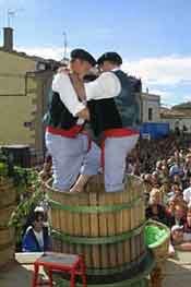 Imagen de una celebración de unas festividades dedicadas al vino