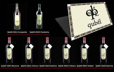 Marca de vinos Qubél de la bodega Gonsálbez Ortí