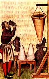 Ilustración medieval del Hippocras