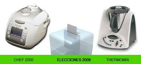 Especial elecciones thermomix chef 2000 degustalo - Comparativa thermomix y mycook ...
