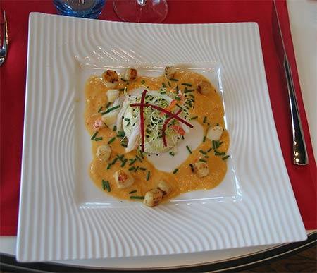 imagen de Poêlée de grosses crevettes à l'anis, soja et betterave rouge