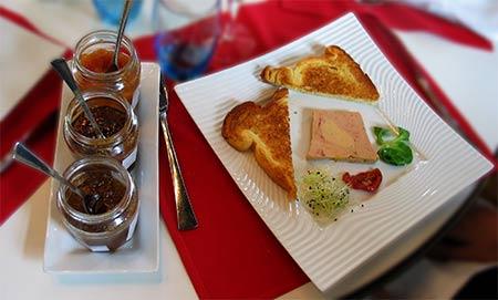 imagen de terrine de foie gras mi-cuit, délices du Potager