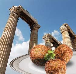 imagen de unas Revizokeftedes o croquetas de garbanzo griegas
