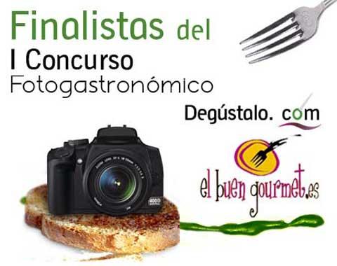 Finalistas del I Concurso Fotogastronómico Degústalo.com - ElBuenGourmet.es