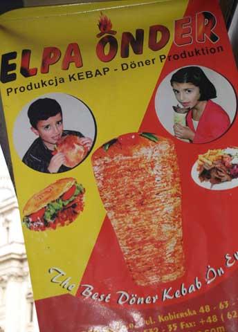 ¿Les Gusta? Cartel de un kebab en Roma