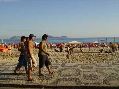 Paseo por la playa de Ipanema
