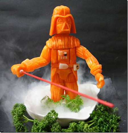 Darth Vader vegetariano