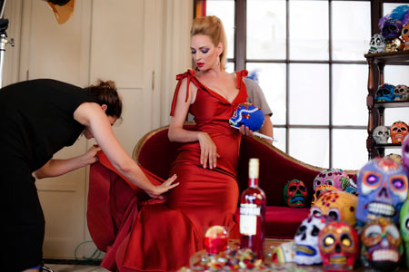 Uma Thurman calendario Campari
