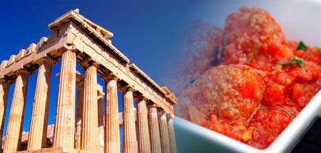 Albóndigas griegas de ternera con salsa de tomate