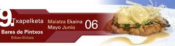 Banner del la IX edición del Campeonato de Pintxos Bilbao-Bizkaia